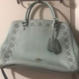 Coach mint green designed bag
